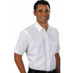 Men's Van Heusen Short Sleeve Broadcloth Dress Shirt Custom Printed