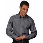 Men's Van Heusen Silky Poplin Dress Shirt Custom Embroidered