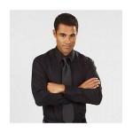 Men's Calvin Klein Micro Herringbone Dress Shirt Custom Embroidered
