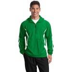 Sport-Tek Men's Colorblock Raglan Anorak Jacket Logo Imprinted