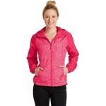 Sport-Tek Ladies' Heather Colorblock Raglan Hooded Wind Jacket Logo Imprinted