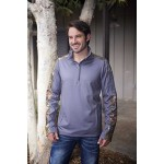 Logo Imprinted 1/4 Zip Sweatshirt with Partial Licence Kings Camo Contrast