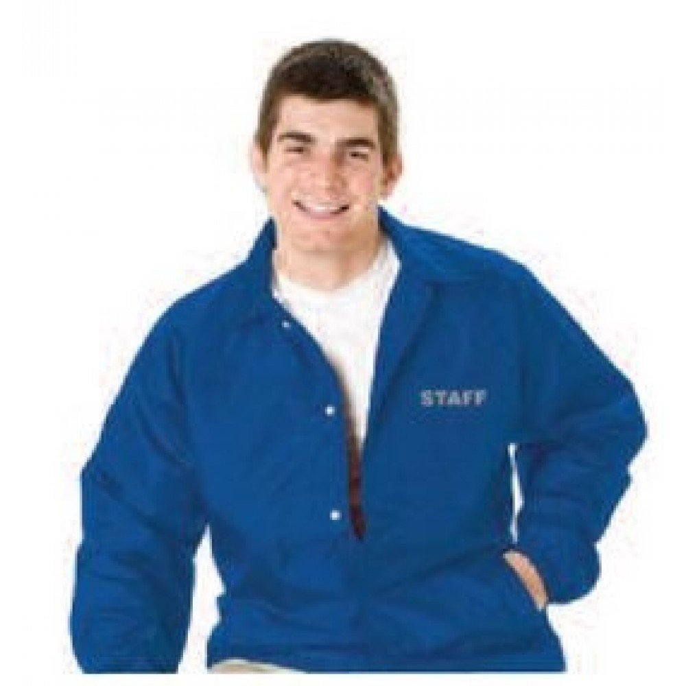 Custom Embroidered Lined Coach's Jacket - Youth