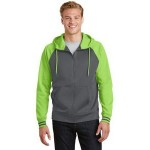Sport-Tek Men's Sport-Wick Varsity Fleece Full-Zip Hooded Jacket Custom Embroidered