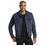 Custom Embroidered Port Authority Men's Denim Jacket