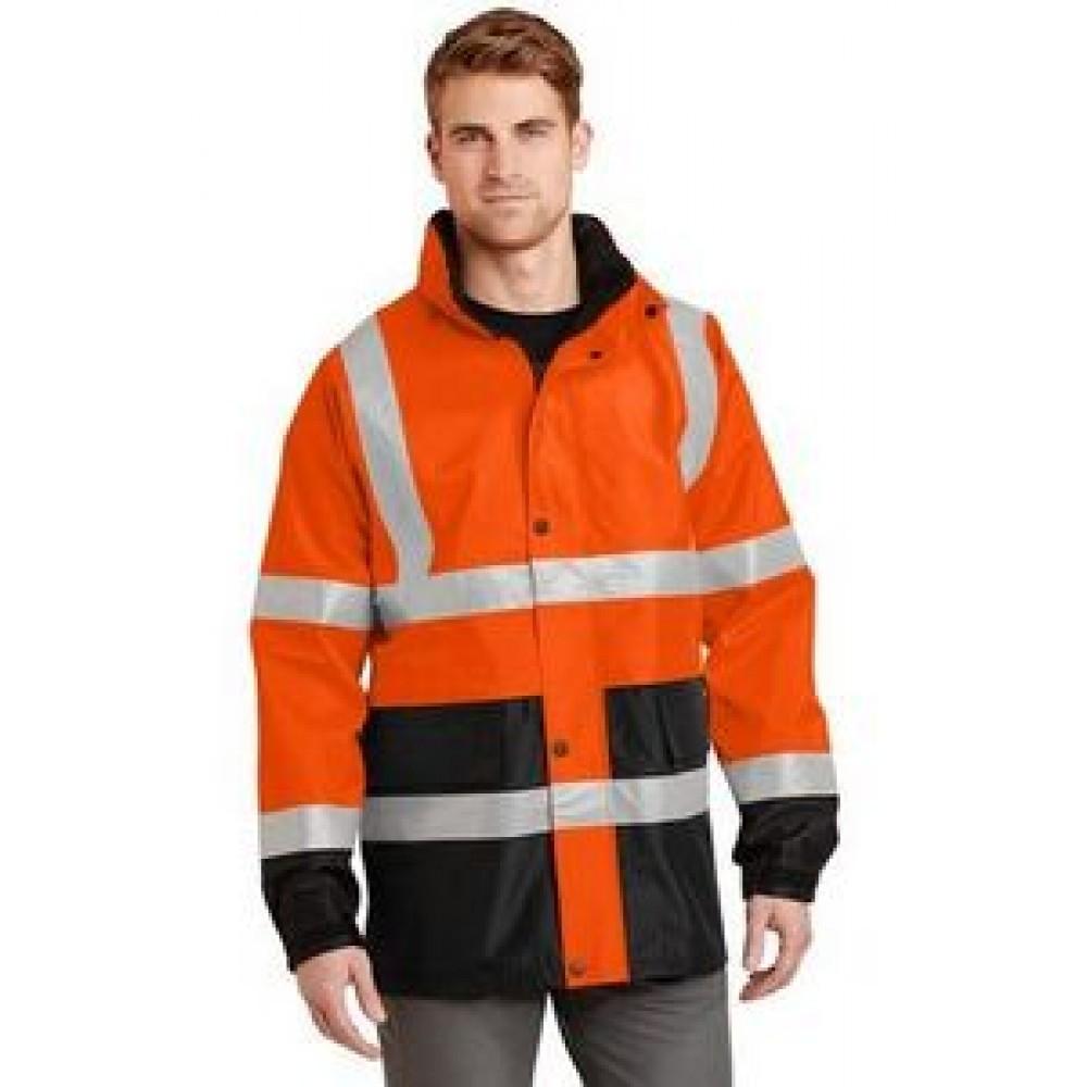 Custom Embroidered Cornerstone ANSI 107 Class 3 Waterproof Parka Jacket