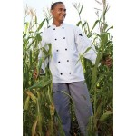 White Long Sleeve Chef's Coat (XS-XL) Custom Embroidered