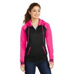 Sport-Tek Ladies' Sport-Wick Varsity Fleece Full-Zip Hooded Jacket Logo Imprinted