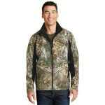 Custom Embroidered Port Authority Camouflage Colorblock Soft Shell Jacket