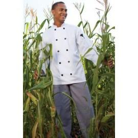 White Long Sleeve Chef's Coat (4XL-6XL) Logo Imprinted