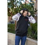 Full Zip hooded sweatshirt made with Licence Kings Camo Custom Printed