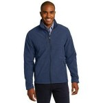 Logo Imprinted Eddie Bauer Men's Shaded Crosshatch Soft Shell Jacket