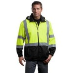 Cornerstone ANSI 107 Class 3 Safety Windbreaker Jacket Custom Embroidered