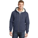 Cornerstone Men's Heavyweight Sherpa-Lined Hooded Fleece Jacket Custom Printed