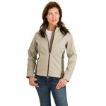 Port Authority Ladies Two-Tone Soft Shell Jacket Logo Imprinted
