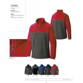 ead690ae5e2 Custom Embroidered Columbia Flanker 1/4 Zip Fleece Colorblock Jacket -Blank