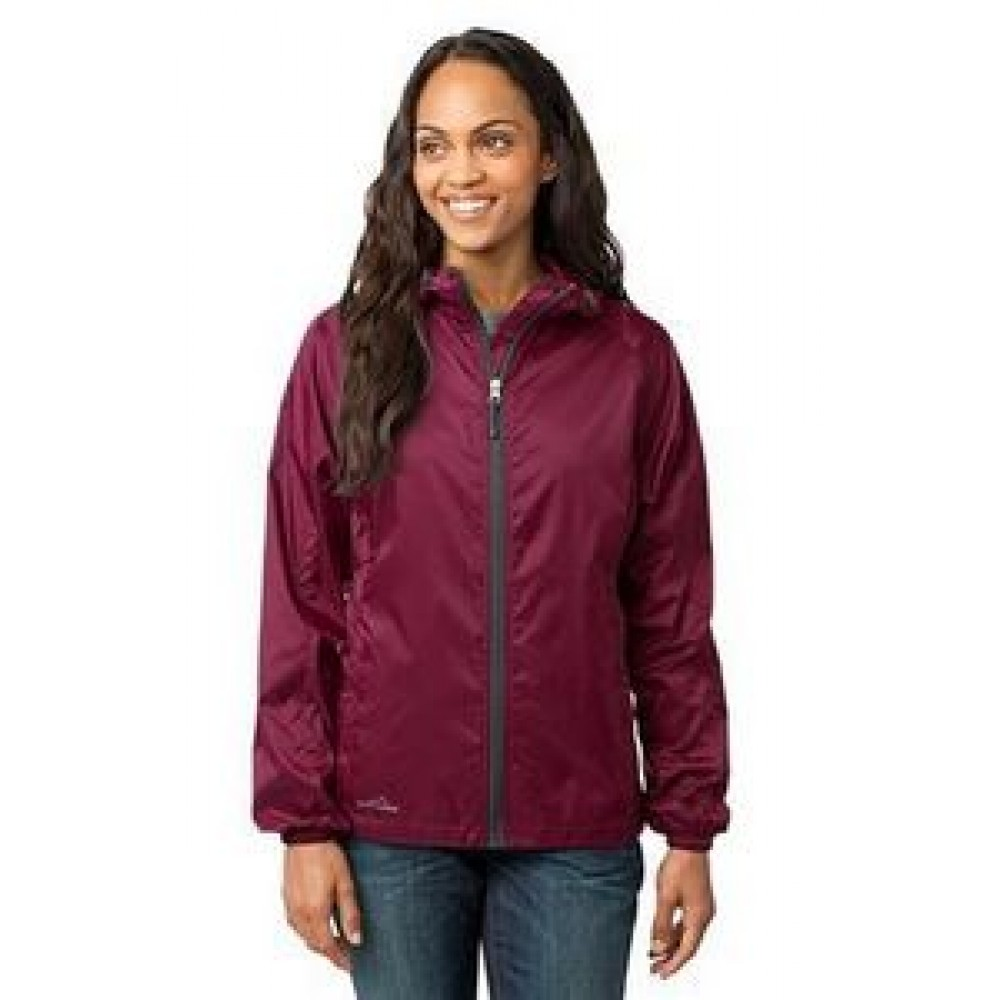 Eddie Bauer Ladies Packable Wind Jacket Custom Printed