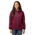 Custom Printed Eddie Bauer Ladies' Packable Wind Jacket