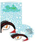Logo Branded Snowman Smile Holiday Greeting Card with CD