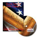 Custom Printed Patriotic Thank You Greeting Card with Matching CD