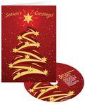 Creative Christmas Tree Holiday Greeting Card with Matching CD Logo Branded