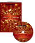 Red & Gold Mantovani Christmas Greeting Card with Matching CD Logo Branded