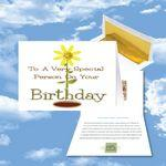 Custom Printed Cloud Nine Birthday Music Download Greeting Card w/ Special Person on Your Birthday