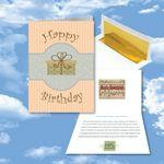 Custom Imprinted Cloud Nine Birthday Music Download Greeting Card w/ Happy Birthday Gift
