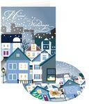 Custom Printed Home for the Holidays Greeting Card w/ Matching CD