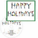 Custom Printed Happy Holidays People Greeting Card with Matching CD