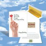 Custom Imprinted Cloud Nine Birthday Music Download Greeting Card w/ We Would Not Forget Your Special Day
