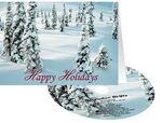 Snowy Woods Holiday Greeting Card with Matching CD Custom Imprinted