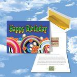 Logo Branded Cloud Nine Birthday Music Download Multicolor Greeting Card w/ Happy Birthday