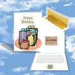 Logo Branded Cloud Nine Birthday Music Download Greeting Card w/ Happy Birthday & Gifts