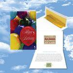 Logo Branded Cloud Nine Birthday Music Download Greeting Card w/ Happy Birthday Balloons