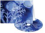 Blue Snowflake Holiday Greeting Card w/ Matching CD Custom Printed