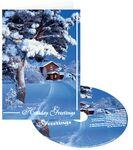 Logo Branded Snow at Home Holiday Greeting Card with Matching CD