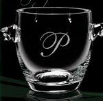 "European Crystal Coronet Ice Bucket (11""x7 7/8""x7 1/2"") Logo Branded"