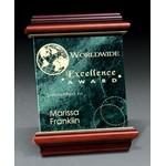 "Engraved Green Heritage Marble Plaque (6""x8"")"