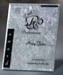 "Logo Imprinted Silver Risk Taker Cast Resin Plaque (5""x7"")"