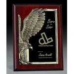 "Ardmore Golden Eagle Wood Plaque (8""x10""x1 1/2"") Engraved"