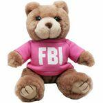 "8"" Brown Kirby Bear with t-shirt and full color imprint Logo Printed"