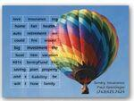 "Full Color Poetry Magnet (4""x5.5"") w/Multiple Cutouts 2.125x3.125 Custom Printed"