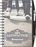 Logo Branded Clear View Journal - Seminar Pad w/ PenPort & Pen