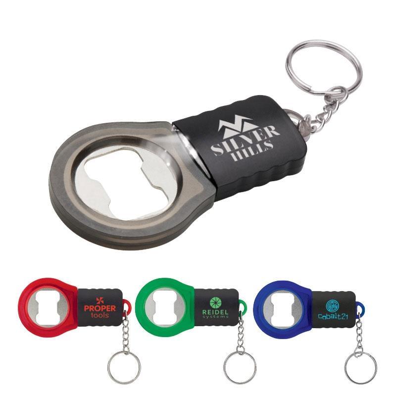 led bottle opener key ring custom printed brava. Black Bedroom Furniture Sets. Home Design Ideas