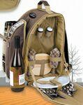 2 Person Picnic Backpack Set Custom Printed