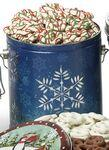 Logo Branded 1/2 Gallon Designer Pail w/ Red & Green Holiday Drizzle Pretzels