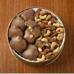 37 Oz. Peanut Clusters/ Deluxe Mix Nuts Custom Gift Tin Logo Branded