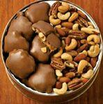 Custom Imprinted 37 Oz. Peanut Clusters/ Deluxe Mix Nuts Custom Gift Tin