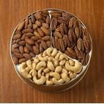 Custom Imprinted 24 Oz. Cashews/ Almonds/ Pecans Custom Gift Tin